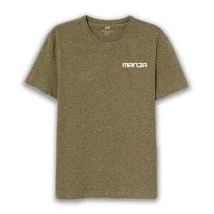 Men Half Sleeve Round Neck Khaki Colour T-Shirt