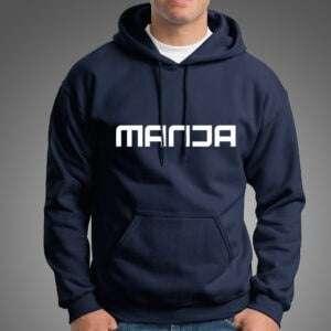 Navy Blue Manja Hoodie For Men