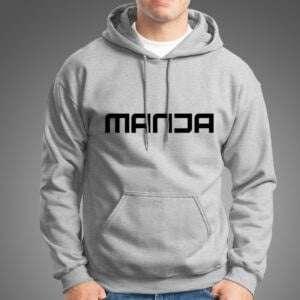 Gray Melange Manja Hoodie For Men