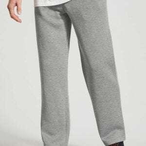 Grey Colour Basic Men Straight Fit Joggers