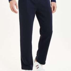 Navy Blue Basic Men Straight Fit Joggers