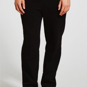 Black Colour Basic Straight Fit Joggers For Mens