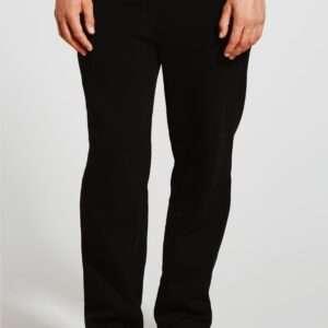 Men Basic Straight Fit Joggers Black Colour