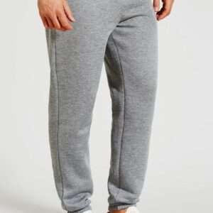 Grey Colour Basic Men Cuffed Joggers
