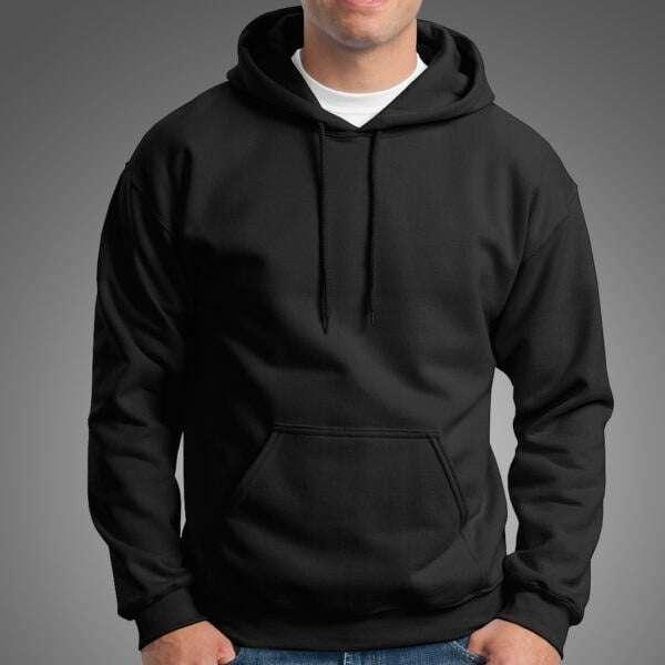 Basics Black Colour Manja Branded Hoodie For Men