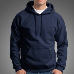 Basics Navy Blue Manja Hoodie for Men