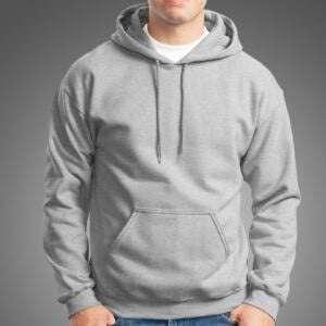 Basics Gray Melange Manja Hoodie For Men