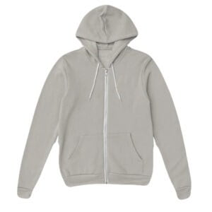 Basic Men's Stylish Gray Melange Zipper Hoodie
