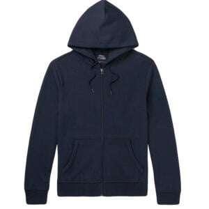 Basic Men's Stylish Navy Blue Zipper Hoodie