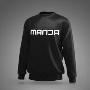 Black Colour Manja Print Sweatshirts For Men