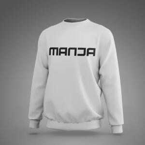 Gray Melange Manja Sweatshirt For Men