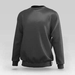 Basics Black Colour Manja Sweatshirt For Men