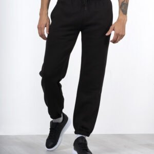 Black Colour Regular Fit Joggers For Men