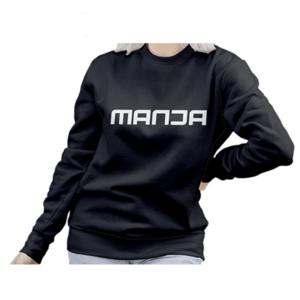 Women's Fashion Manja Printed Sweatshirt Black