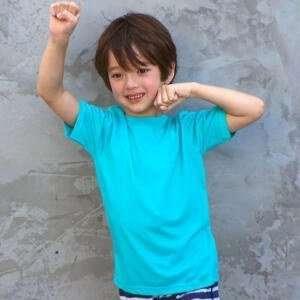 Light Blue Short Sleeve Kids T-Shirts
