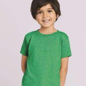 Green Colour Short Sleeve Kids T-Shirts