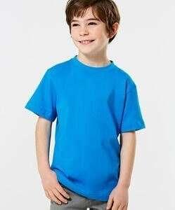 Medium Blue Short Sleeve Kids T-Shirt