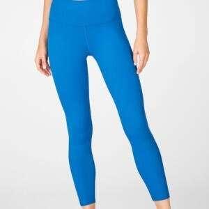 Women Aqua Blue Colour Basic Workout Full Length Leggings