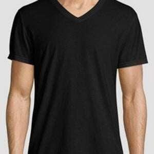 Men's Basic V Neck T-Shirt in Black Colour
