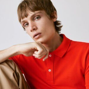 Men's Slim fit Manja Red PK Polo T-Shirt