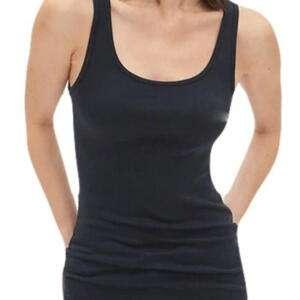 Black Colour Modern Tank Top For Ladies