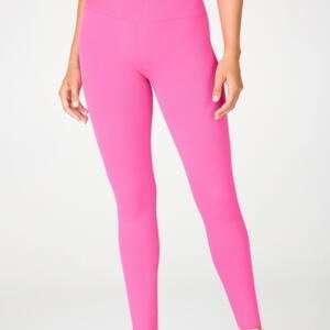 Pink Colour Casual High Waist Ladies Leggings