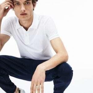 Men's Slim fit Manja White Colour Polo T-Shirt
