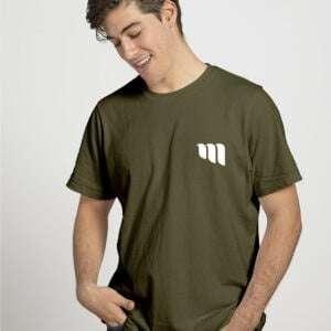 Men's 100% Cotton Short Sleeve T-Shirt Khaki Colour