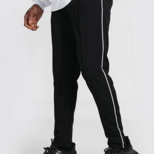 Skinny Pin tuck Scuba Joggers With Side Piping