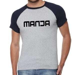 Manja Raglan Short Sleeve T-Shirt Navy & Grey Colour