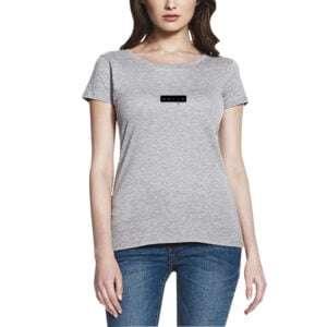 Girls 100% Cotton Short Sleeve Round Neck T-shirt Grey Colour