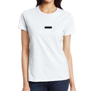 Women Short Sleeve Round Neck T-shirt White in BD