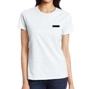 White Short Sleeve T-shirt For Women's in Bangladesh