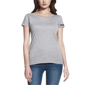 Grey Colour Women's Printed Half Sleeve Round Neck T-shirt