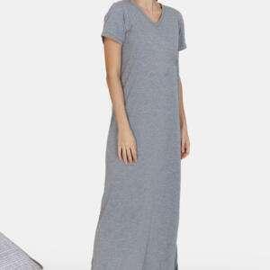 Grey Colour Women's Cotton Sleepwear Set