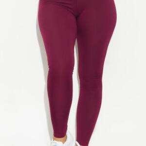 Maroon Colour Leggings For Women