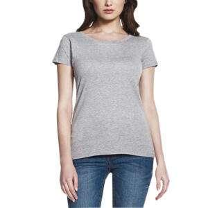 Manja Printed Round Neck Grey T-shirts For Girls