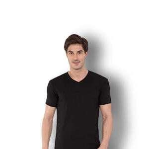 Black Colour V neck T-shirt For Men's