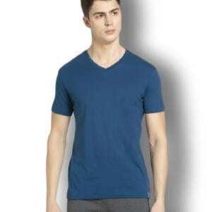 Blue Colour V-neck T-shirt For Men's