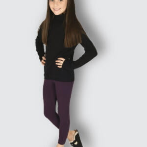 Brinjal Stretchabl Cotton Leggings For Baby Girls