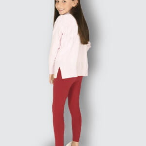Deep Red Export Quality Cotton Legging For Cute Baby Girls