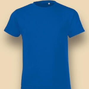 Export Quality Basic Short Sleeve Baby T-shirt in Blue