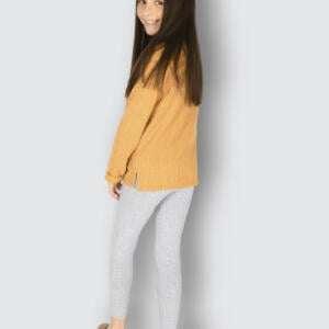 Grey Colour Cute Baby Girls Cotton Leggings