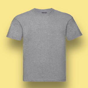 Grey Round Neck Short Sleeve T-shirts For Kids