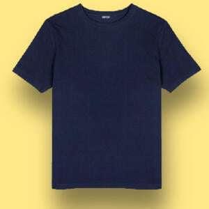 Navy Blue Basic Round Neck T-shirt For Kids