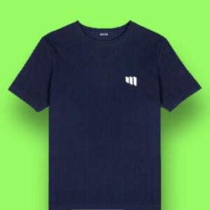 Navy Manja Logo Printed Round T-shirt For Baby