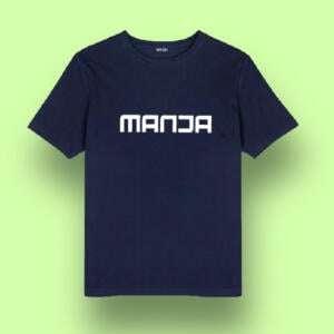 Navy Short Sleeve Round Printed Baby T-shirts