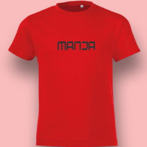 Red Colour Printed Cotton T-shirt For Baby
