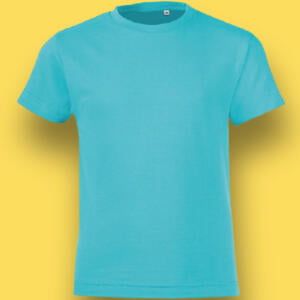Sky Sea Green Cotton T-shirts For Baby Boy in BD