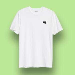 White Round Neck Short Sleeve T-shirts For Kids